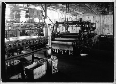 Lewis Wickes Hine (American, 1874-1940). [Untitled] (Factory Interior), 1936-1937. Gelatin silver photograph, 4 3/4 x 7 1/4 in.  (12.1 x 18.4 cm). Brooklyn Museum, Gift of the National Archives, 79.143.92