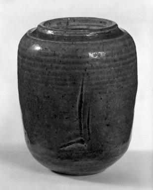 J. B. Blunk (American,). Jar, 1953. Glazed stoneware, 4 1/4 x 3 1/2in. (10.8 x 8.9cm). Brooklyn Museum, Gift of Sidney B. Cardozo, Jr., 79.178.3. Creative Commons-BY