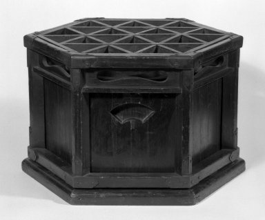 Charcoal Brazier with Support for Quilted Coverlet (Kotatasu), 19th century. Wood, bronze, copper, height (unextended): 7 1/2 in. (19.1 cm);. Brooklyn Museum, Gift of Sidney B. Cardozo, Jr., 79.178.7. Creative Commons-BY