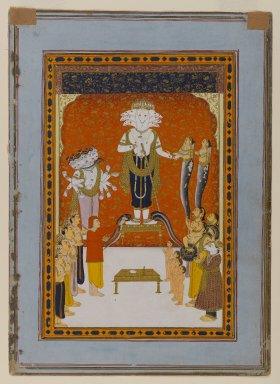 Indian. Devotions to Nagadevata, ca. 1790. Opaque watercolor and gold on paper, sheet: 11 3/16 x 8 1/16 in.  (28.4 x 20.5 cm). Brooklyn Museum, Anonymous gift, 79.186.2