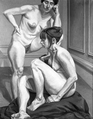 Philip Pearlstein (American, born 1924). Two Nudes, 1964. Oil on canvas, canvas: 71 1/4 x 57 in.  (181.0 x 144.8 cm). Brooklyn Museum, Gift of Mr. and Mrs. Edward H. Merrin, 79.193. © Philip Pearlstein