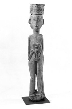 Dayak. Figure (Hampatong) Representing a Male and Female, early 20th century. Wood, pigment, 53 3/8 in. (135.6 cm). Brooklyn Museum, Gift of Mr. and Mrs. Gustave Schindler, 79.2.1. Creative Commons-BY