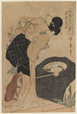 Kitagawa Utamaro (Japanese, 1753-1806). Woman and Child, 1800. Woodblock print, 15 x 10 1/8 in. (38.1 x 25.7 cm). Brooklyn Museum, Gift of Dr. and Mrs. Maurice H. Cottle, 79.253.1