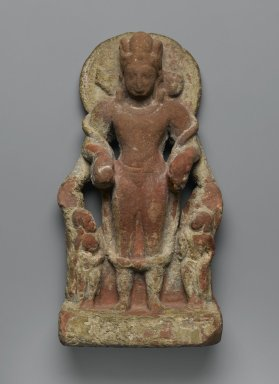 Four-Faced Vishnu, 4th-5th century. Red Sandstone, 10 1/4 in. (26 cm). Brooklyn Museum, Gift of Marilyn W. Grounds, 79.260.12. Creative Commons-BY