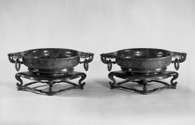 Basin, One of Pair, late 19th-early 20th century. Jade, each: 1 3/4 x 10 3/8 in. (4.4 x 26.4 cm). Brooklyn Museum, Gift of Paula Leipner, 79.269.1. Creative Commons-BY