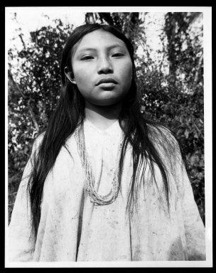 Manuel Alvarez Bravo (Mexican, 1902-2002). Margarita de Bonampak, 1949. Gelatin silver photograph, image: 9 1/2 x 7 1/2 in. (24.1 x 19.1 cm). Brooklyn Museum, Gift of William Berley, 79.294.7. © Colette Urbajtel/Asociación Manuel Álvarez Bravo