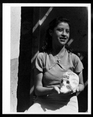 Manuel Alvarez Bravo (Mexican, 1902-2002). Dia de Todos Muertos, 1933. Gelatin silver photograph, image: 9 7/16 x 6 15/16 in. (24 x 17.7 cm). Brooklyn Museum, Gift of William Berley, 79.294.8. © Colette Urbajtel/Asociación Manuel Álvarez Bravo