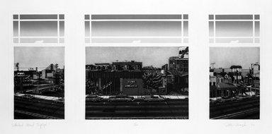Peter Baczek (American, born 1945). Lombard Street Triptych, 1976. Etching, sheet: 17 x 19 1/2 in.  (43.2 x 49.5 cm);. Brooklyn Museum, Gift of ADI Gallery, 79.37.2. © Peter Baczek