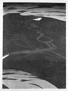 Deng Ming-Dao (American, born 1954). Rain Basin, 1978. Woodcut, Sheet: 31 5/8 x 24 1/8 in. (80.3 x 61.3 cm). Brooklyn Museum, Gift of ADI Gallery, 79.37.4. © Ming-Dao Deng