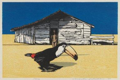 Yoshida  Hodaka (Japanese, 1926-1995). Untitled, 1978. Photo-engraving and woodcut on paper, sheet: 10 7/8 x 14 3/4 in. (27.6 x 37.5 cm). Brooklyn Museum, Tokyo Metropolitan Teien Art Museum, 79.55.3. © Estate of Yoshida Hodaka