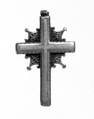 Amhara. Pendant Cross, 19th or 20th century. Silver, 2 x 1 3/16 in. (5.0 x 3.1 cm). Brooklyn Museum, Gift of George V. Corinaldi Jr., 79.72.13. Creative Commons-BY