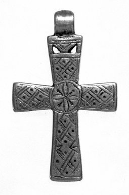 Amhara. Pendant Cross, 19th or 20th century. Silver, 1 7/8 x 1 3/16 in. (4.8 x 3.0 cm). Brooklyn Museum, Gift of George V. Corinaldi Jr., 79.72.14. Creative Commons-BY