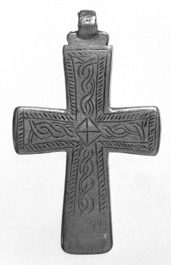 Amhara. Pendant Cross, 19th or 20th century. Silver, 2 1/2 x 1 1/2 in. (6.3 x 3.8 cm). Brooklyn Museum, Gift of George V. Corinaldi Jr., 79.72.16. Creative Commons-BY