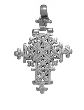 Amhara. Pendant Cross, 19th or 20th century. Silver, 2 1/2 x 1 3/4 in. (6.3 x 4.4 cm). Brooklyn Museum, Gift of George V. Corinaldi Jr., 79.72.23. Creative Commons-BY