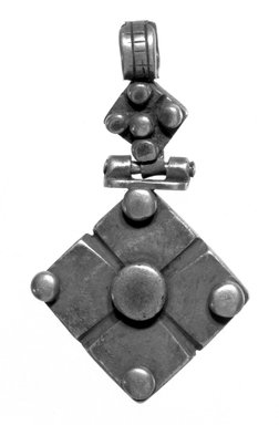 Amhara. Pendant Cross, 19th or 20th century. Silver, 2 1/2 x 1 3/8 in. (6.3 x 3.5 cm). Brooklyn Museum, Gift of George V. Corinaldi Jr., 79.72.25. Creative Commons-BY
