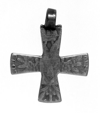Amhara. Pendant Cross, 19th or 20th century. Silver, 1 7/8 x 1 1/2 in. (4.8 x 3.8 cm). Brooklyn Museum, Gift of George V. Corinaldi Jr., 79.72.2. Creative Commons-BY
