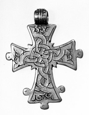 Amhara. Pendant Cross, 19th or 20th century. Silver, 2 7/8 x 1 7/8 in. (7.3 x 4.8 cm). Brooklyn Museum, Gift of George V. Corinaldi Jr., 79.72.35. Creative Commons-BY