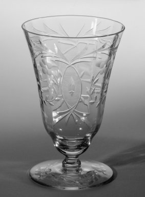 Libbey Glass Company (founded 1888). One Piece from Table Setting, ca. 1933. Cut and engraved crystal, 4 1/8 in. (10.5 cm). Brooklyn Museum, Gift of Mrs. Homer Kripke, 79.78.3. Creative Commons-BY