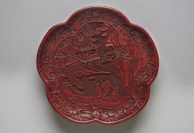 Plate in the Form of a Plum Blossom, 1368-1644. Lacquer, 7 3/8 in. (18.7 cm). Brooklyn Museum, Gift of Cynthia Hazen Polsky, 79.81. Creative Commons-BY
