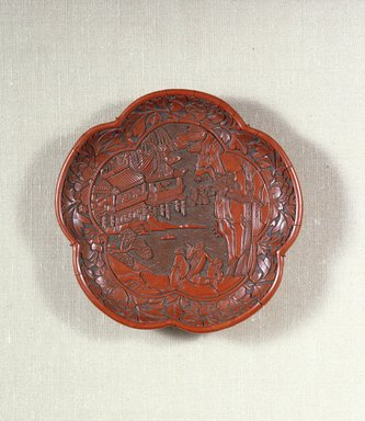 Brooklyn Museum: Plate in the Form of a Plum Blossom