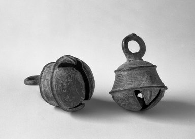 Jingle-bell, 13th-14th century. Bronze, 2 x 1 1/2 in. (5.1 x 3.8 cm). Brooklyn Museum, Gift of Dr. Andrew Dahl, 80.115.3. Creative Commons-BY