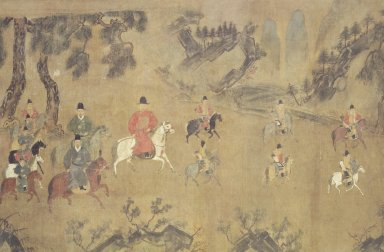 Cavalry Procession, 16th century. Ink and light color on silk, Image: 27 x 41 in. (68.6 x 104.1 cm). Brooklyn Museum, Gift of Dr. and Mrs. Leroy Lavine, 80.117.2