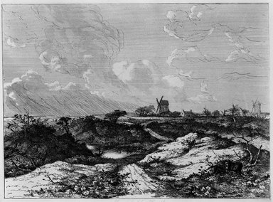 John Crome (British, 1768-1821). Mousehold Heath, Norwich, ca. 1818-1820. Etching on wove paper, Plate: 22 1/2 x 30 1/2 in. (57.2 x 77.5 cm). Brooklyn Museum, Designated Purchase Fund, 80.143.1