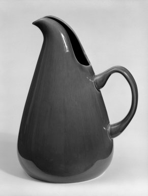 Russel Wright (American, 1904-1976). Pitcher, Designed 1937; Manufactured: ca. 1938. Glazed earthenware, 10 1/2 x 8 1/2 x 6 1/2 in. (26.7 x 21.6 x 16.5 cm). Brooklyn Museum, Gift of Andrew and Ina Feuerstein, 80.169.1. Creative Commons-BY