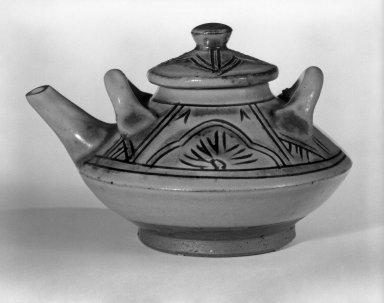 Choshi, ca. 1970. Glazed stoneware, 3 1/8 x 4 5/8 in. (7.9 x 11.7 cm). Brooklyn Museum, Gift of Sidney B. Cardozo, Jr., 80.175.7. Creative Commons-BY