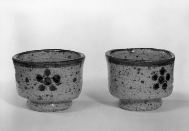 Pair of Sake Cups, ca. 1970. Glazed stoneware, Each: 2 x 2 3/4 in. (5.1 x 7 cm). Brooklyn Museum, Gift of Sidney B. Cardozo, Jr., 80.175.8. Creative Commons-BY