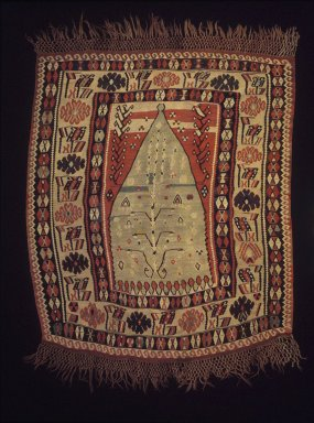 Prayer Kilim, late 19th century. Wool, Old Dims: 64 x 54 3/4 in. (162.6 x 139.1 cm). Brooklyn Museum, Gift of Dr. Bertram H. Schaffner, 80.185. Creative Commons-BY