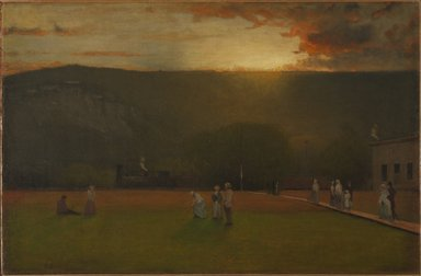 George Inness (American, 1825-1894). The Rigor of the Game, Kearsarge Hall, North Conway, New Hampshire, ca. 1875. Oil on canvas, 19 15/16 x 30 1/2 in. (50.6 x 77.5 cm). Brooklyn Museum, Gift of Whitney B. Atwood, 80.189