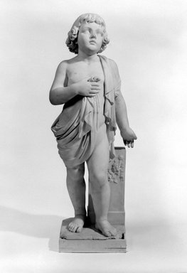 Emma Stebbins (American, 1815-1882). Samuel, 1868. Marble, 39 1/4 x 14 1/4 x 10 3/8 in. (99.7 x 36.2 x 26.4 cm). Brooklyn Museum, Gift of James Ricau, 80.191a-b. Creative Commons-BY