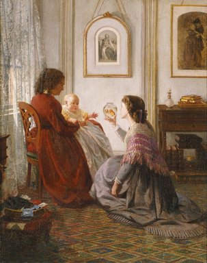 Aaron Draper Shattuck (American, 1832-1928). The Shattuck Family, with Grandmother, Mother and Baby William, 1865. Oil on canvas, 20 x 15 7/8 in. (50.8 x 40.3 cm). Brooklyn Museum, Given in memory of Mary and John D. Nodine, by Judith and Wilbur Ross, 80.192