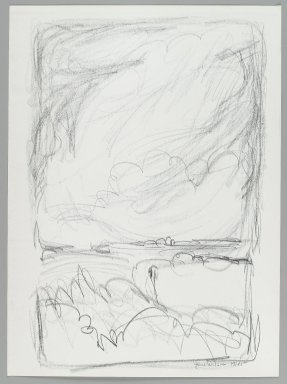 Jane Wilson (American, 1924-2015). Landscape, 1961. Lithograph on wove paper, Sheet: 13 1/2 x 9 13/16 in. (34.3 x 25 cm). Brooklyn Museum, Anonymous gift, 80.209.121. © Jane Wilson