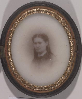 Unknown. [Untitled] (Portrait of a Young Woman), ca. 1860's. Ambrotype on milk glass Brooklyn Museum, Gift of Mrs. Harold J. Roig, 80.231.10