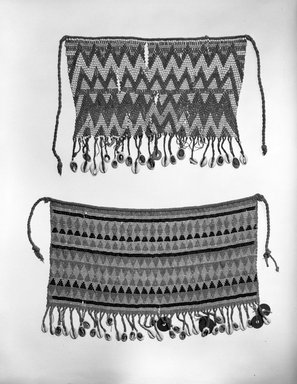 Kirdi (ie. Gisinga, Motu, Gude, Glidder, Fali). Cache Sexe/Apron, early to mid 20th century. Cotton, glass beads, cowrie shells, metal, fiber, 9 1/2 x 13 in. (24.1 x 33 cm). Brooklyn Museum, Gift of Jay M. Haft, 80.243.7. Creative Commons-BY