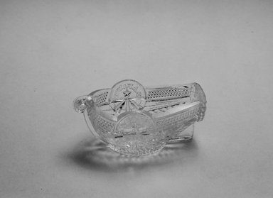 Boston and Sandwich Glass Company. Salt, Lafayette Boat, ca. 1825. Glass, 1 1/2 x 2 x 3 5/8 in. (3.8 x 5.1 x 9.2 cm). Brooklyn Museum, Gift of Allison C. Paulsen in memory of Arthur W. Clement, 80.248.2. Creative Commons-BY