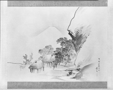 Matsumura Keibun (Japanese, 1779-1843). Winter Landscape with Mt. Fuji, 1832. Hanging scroll, ink and light color wash on paper, 43 13/16 x 58 3/8 in. (111.3 x 148.3 cm). Brooklyn Museum, Gift of Dr. and Mrs. Robert Feinberg, 80.257.3