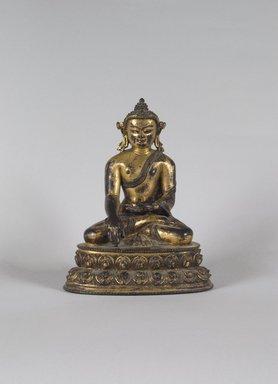 Seated Buddha Sakyamuni, ca. 1500. Gilt bronze, 8 1/16 x 5 13/16 x 3 15/16 in. (20.5 x 14.8 x 10 cm). Brooklyn Museum, Gift of Mr. and Mrs. Edward Greenberg, 80.260.2. Creative Commons-BY
