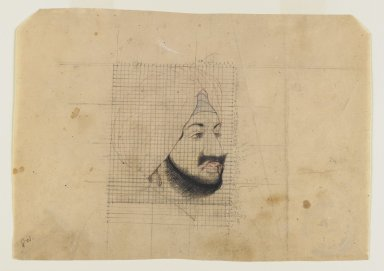 Indian. Portrait of the Maharaja of Patiala, early 20th century. Pencil, ink, and color on paper, sheet: 6 1/2 x 9 in.  (16.5 x 22.9 cm). Brooklyn Museum, Gift of Marilyn W. Grounds, 80.261.1