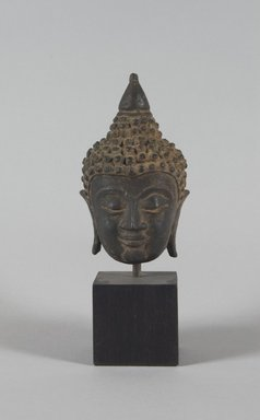 Head of Buddha, ca. 16th century. Bronze, 5 x 3 in. (12.7 x 7.6 cm). Brooklyn Museum, Gift of Dr. and Mrs. Eugene Halpert, 80.263.2. Creative Commons-BY