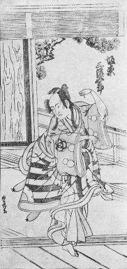 Utagawa Toyomaru (Japanese, active 1785-1797). Actor Dancing the Fox Dance, ca. 1780. Woodblock print, hosoban, 11 1/8 x 5 3/8 in. (28.3 x 13.7 cm). Brooklyn Museum, Gift of Dr. William E. Harkins, 80.264.2
