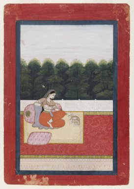 Indian. Dhanashri Ragini, Page from a Ragamala Series, ca. 1790 or earlier. Opaque watercolor and gold on paper, sheet: 10 x 6 15/16 in.  (25.4 x 17.6 cm). Brooklyn Museum, Anonymous gift, 80.277.9