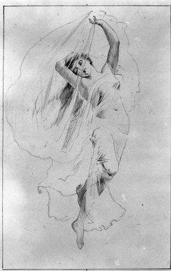 Benjamin Osro Eggleston (American, 1867-1937). Morning Lights, n.d. Graphite on paper, sheet: 15 1/16 x 6 5/16 in. (38.3 x 16 cm). Brooklyn Museum, Gift of Mr. and Mrs. Stuart Feld, 80.292.1