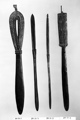 Spatula. Wood, L: 17 3/8 in. (44.2 cm). Brooklyn Museum, Gift of Mrs. Donald M. Oenslager, 80.31.1. Creative Commons-BY
