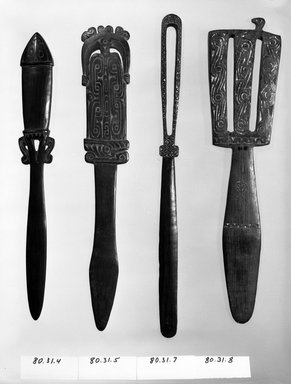 Lime Spatula (Kena). Wood, lime, L: 12 3/8 in. (31.5 cm). Brooklyn Museum, Gift of Mrs. Donald M. Oenslager, 80.31.4. Creative Commons-BY