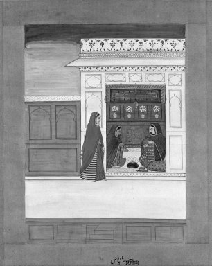 Indian. Month of Pausha, Page from a Baramasa Series, ca. 1750. Opaque watercolor and gold on paper, sheet: 13 3/4 x 10 5/8 in.  (34.9 x 27.0 cm). Brooklyn Museum, Gift of Mr. and Mrs. Peter Findlay, 80.71.1