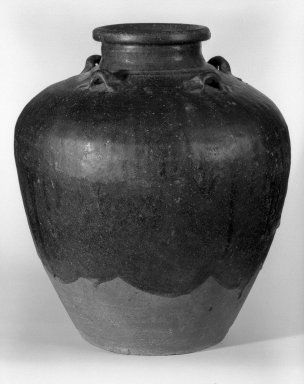 Storage Jar, 16th century. Sankampaeng black-glazed storage jar, 14 1/2 x 13 in. (36.8 x 33 cm). Brooklyn Museum, Gift of Mr. and Mrs. Stanley Herzman, 80.72.2. Creative Commons-BY