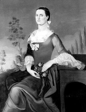 William Johnston (American, 1732-1772). Mrs.Thomas Mumford VI, 1763. Oil on canvas, 49 15/16 x 38 13/16 in. (126.9 x 98.6 cm). Brooklyn Museum, Dick S. Ramsay Fund, 80.80